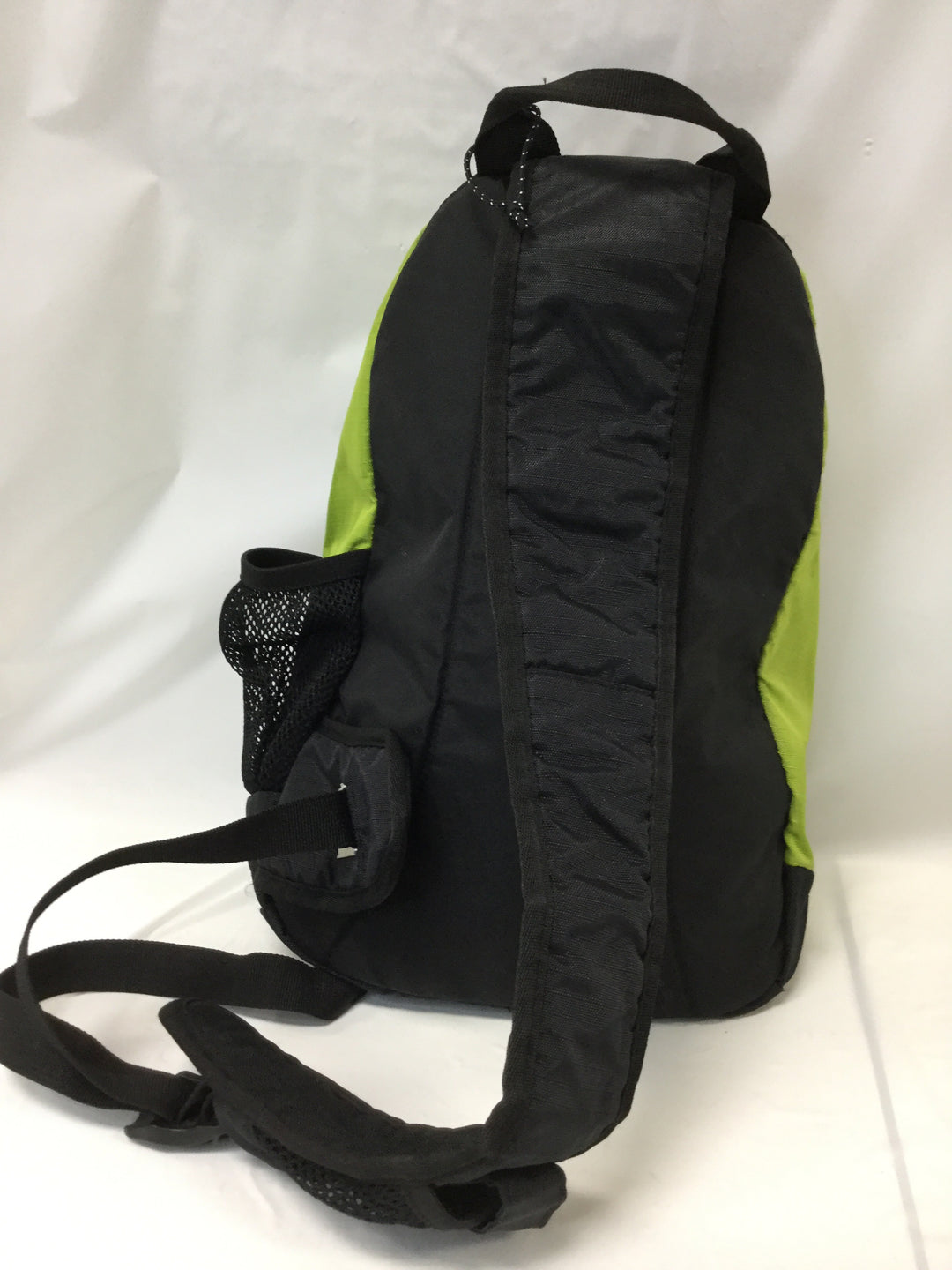 Photo #1 - BRAND: TIMBERLAND <BR>STYLE: BACKPACK <BR>COLOR: GREEN <BR>SIZE: SMALL <BR>SKU: 155-155224-1406<BR>LIME GREEN NYLON/BLACK <BR>BODY APPROX.18'/ADJUSTABLE STRAP<BR>