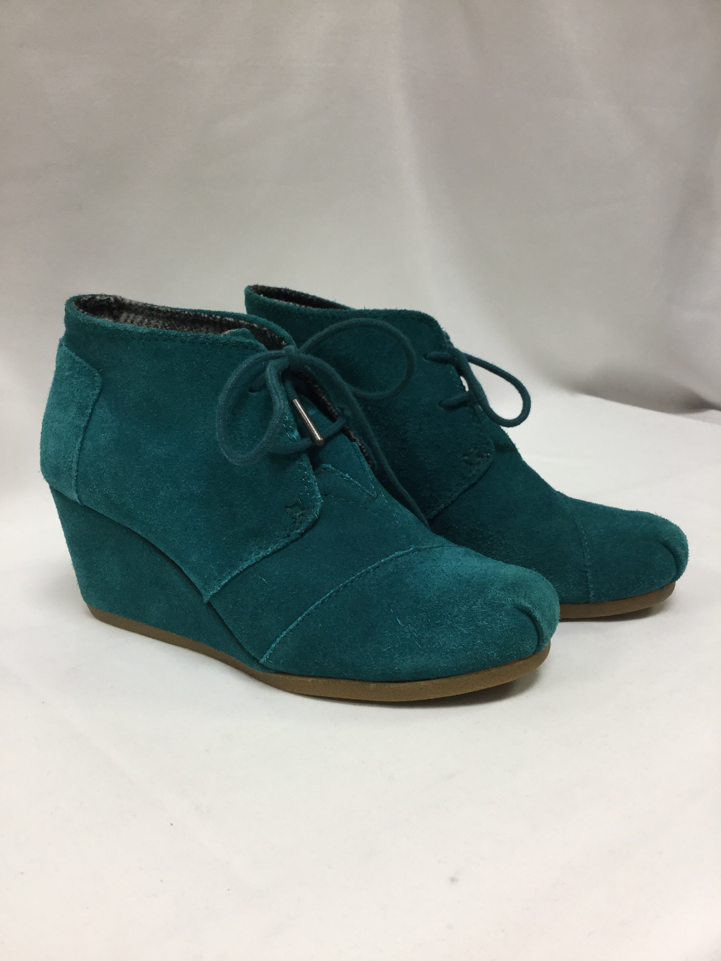 Primary Photo - BRAND: TOMS <BR>STYLE: SHOES HIGH HEEL <BR>COLOR: TURQUOISE <BR>SIZE: 6 <BR>SKU: 155-155224-14052