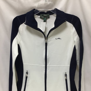 Primary Photo - BRAND: RALPH LAUREN STYLE: ATHLETIC JACKET COLOR: BLUE WHITE SIZE: S SKU: 155-155130-210504