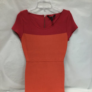 Primary Photo - BRAND: BCBGMAXAZRIA STYLE: DRESS SHORT SHORT SLEEVE COLOR: PEACH ORANGE AND CORALSIZE: M SKU: 155-15599-229154