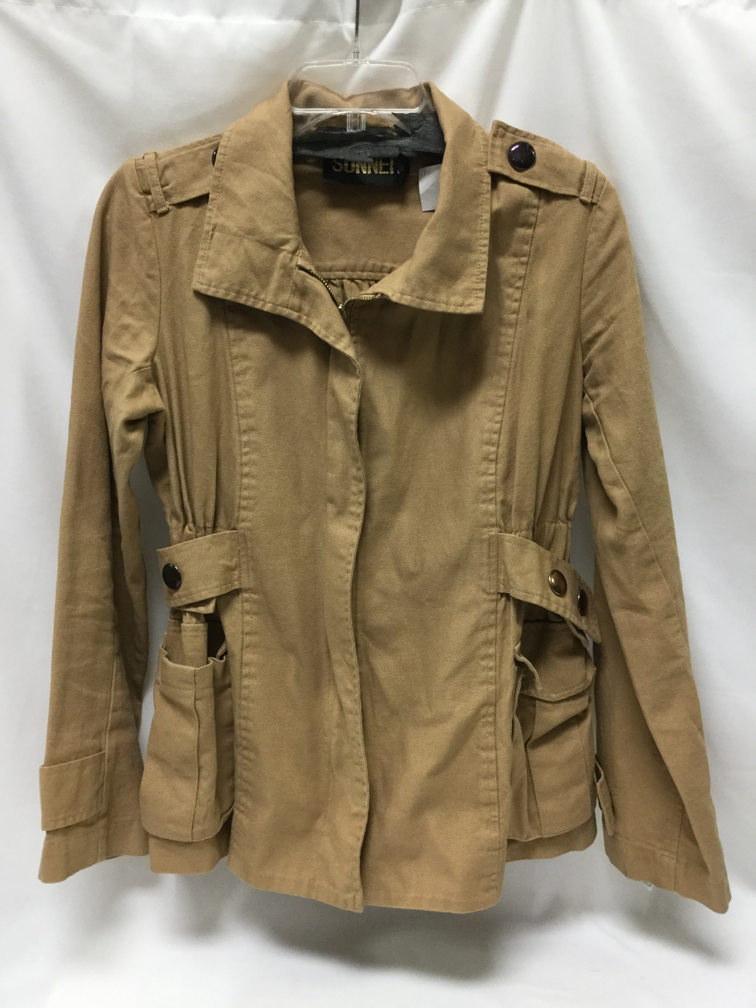Primary Photo - BRAND:    CLOTHES MENTOR <BR>STYLE: JACKET OUTDOOR <BR>COLOR: TAN <BR>SIZE: S <BR>SKU: 155-155163-125038