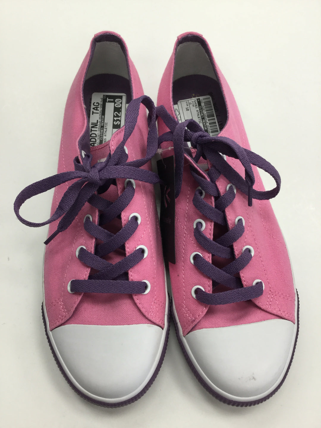 Primary Photo - BRAND:    BURNETIE<BR>STYLE: SHOES ATHLETIC <BR>COLOR: PINK PURPLE WHITE<BR>SIZE: 10 <BR>SKU: 162-16287-33544