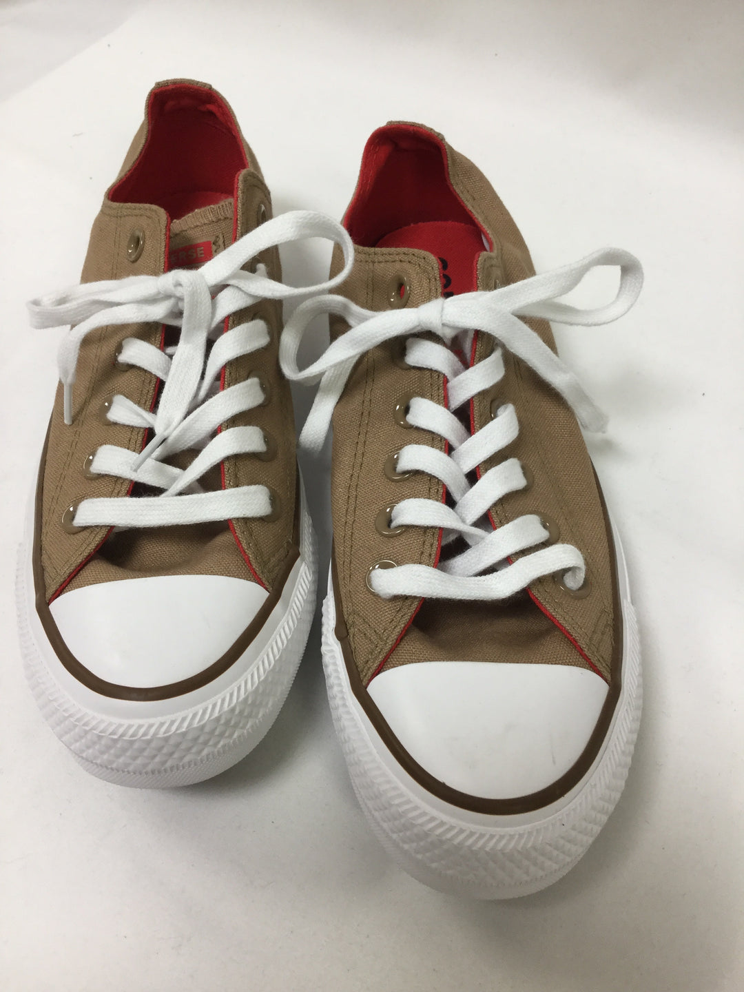 Photo #1 - BRAND: CONVERSE <BR>STYLE: SHOES ATHLETIC <BR>COLOR: TAN <BR>SIZE: 7 <BR>SKU: 155-15545-208907