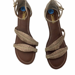 Primary Photo - BRAND: CARLOS SANTANA STYLE: SANDALS LOW COLOR: BRONZE SIZE: 7.5 SKU: 155-15599-249110