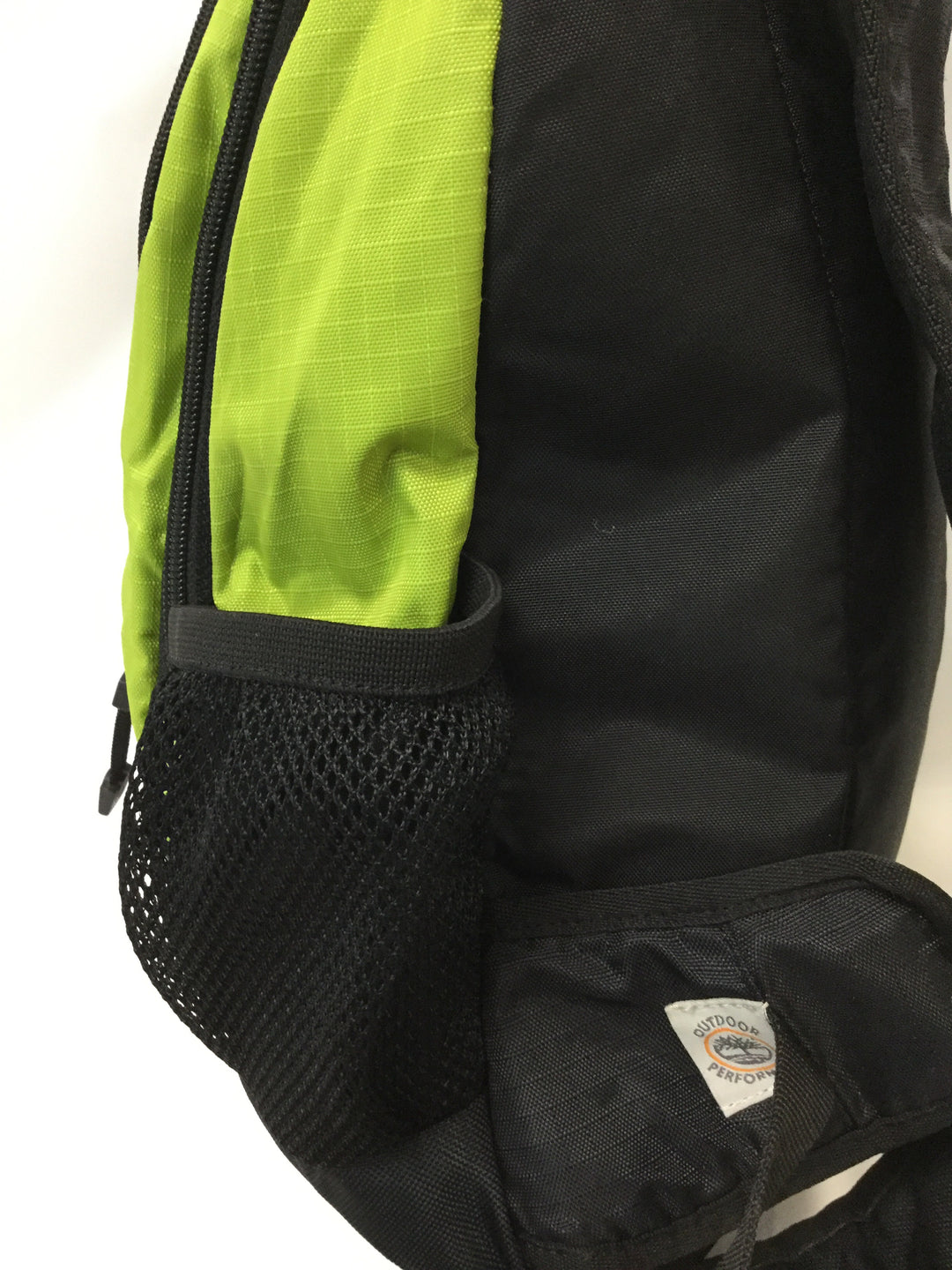 Photo #2 - BRAND: TIMBERLAND <BR>STYLE: BACKPACK <BR>COLOR: GREEN <BR>SIZE: SMALL <BR>SKU: 155-155224-1406<BR>LIME GREEN NYLON/BLACK <BR>BODY APPROX.18'/ADJUSTABLE STRAP<BR>