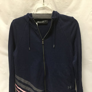 Primary Photo - BRAND: UNDER ARMOUR STYLE: ATHLETIC JACKET COLOR: NAVY GREY PINKSIZE: S SKU: 155-15599-233218