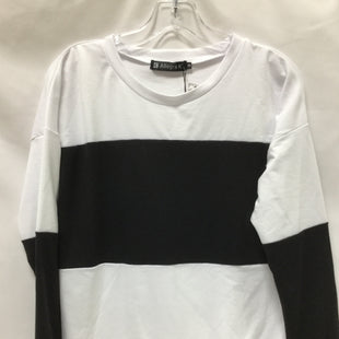 Primary Photo - BRAND:  ALLEGRA KSTYLE: TOP LONG SLEEVE COLOR: BLACK WHITE SIZE: S SKU: 155-15599-233292