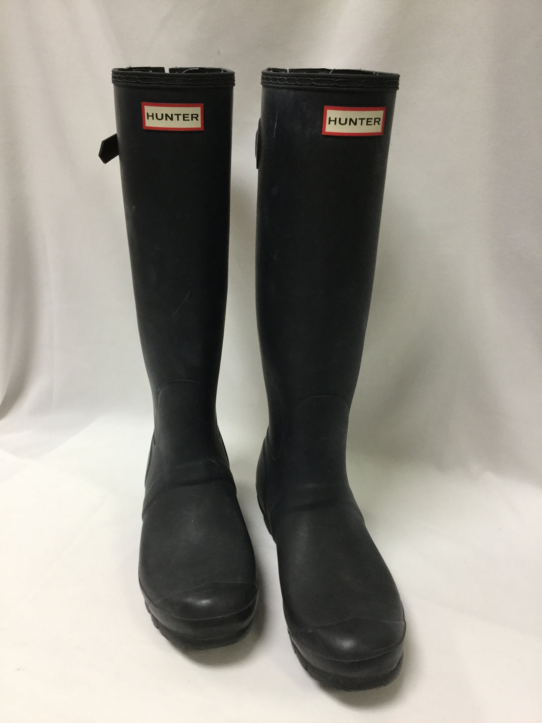 Photo #1 - BRAND: HUNTER <BR>STYLE: BOOTS ANKLE <BR>COLOR: BLACK <BR>SIZE: 10 <BR>OTHER INFO: NOTED WEAR <BR>SKU: 155-15599-236144