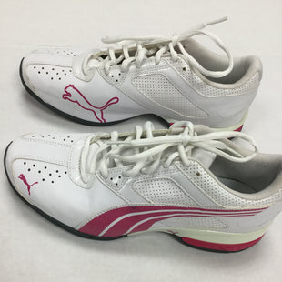 Primary Photo - BRAND: PUMA STYLE: SHOES ATHLETIC COLOR: WHITE SIZE: 9.5 SKU: 155-15599-239366