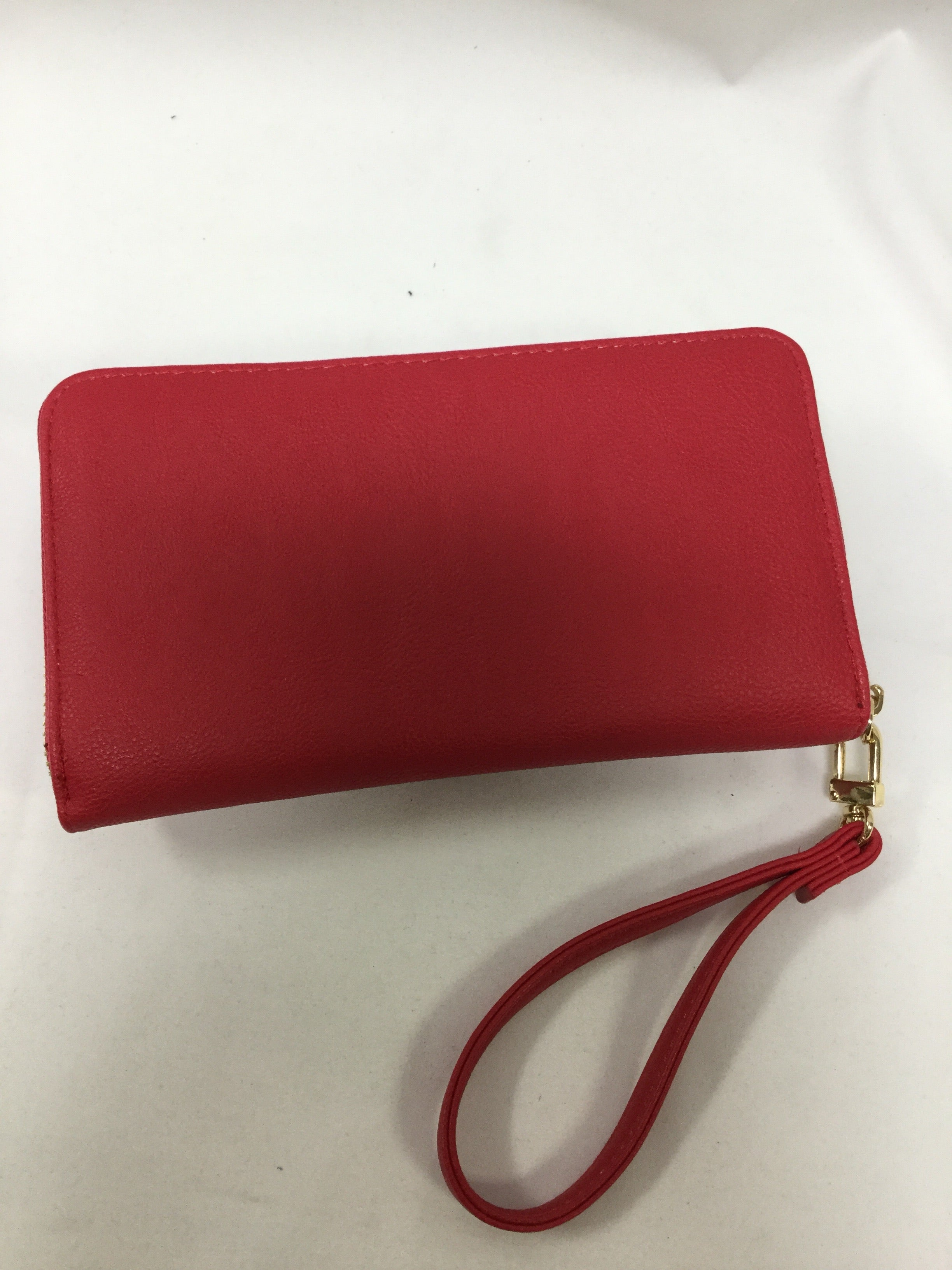 Photo #1 - BRAND: BETSEY JOHNSON <BR>STYLE: WALLET <BR>COLOR: RED <BR>SIZE: LARGE <BR>SKU: 155-15599-235818