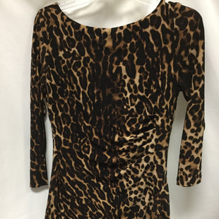 Primary Photo - BRAND: LAUREN BY RALPH LAUREN STYLE: DRESS SHORT LONG SLEEVE COLOR: ANIMAL PRINT SIZE: 6 SKU: 155-155228-991