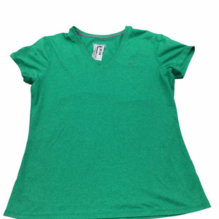 Primary Photo - BRAND: NIKE APPAREL STYLE: ATHLETIC TOP SHORT SLEEVE COLOR: GREEN SIZE: L SKU: 155-155130-219345