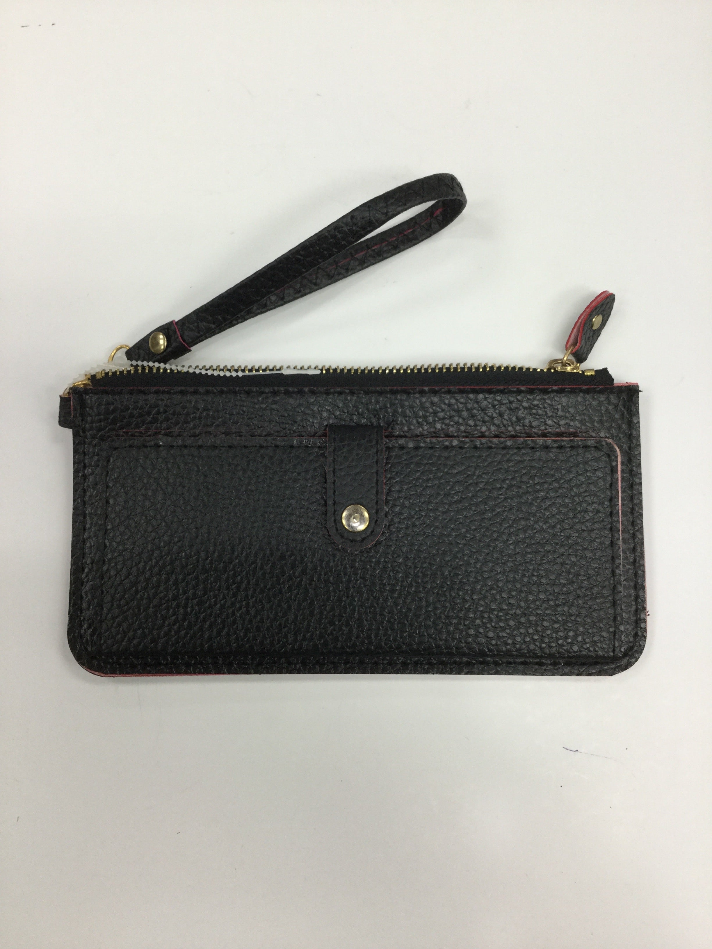 Primary Photo - BRAND:    CLOTHES MENTOR <BR>STYLE: WRISTLET<BR>COLOR: BLACK <BR>SIZE: LARGE <BR>SKU: 155-155163-123565<BR>BLACK WITH RED TRIM