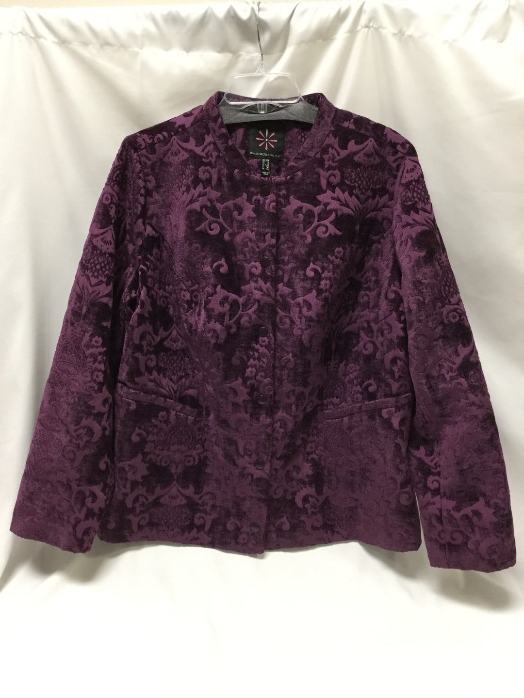 Primary Photo - BRAND: ISAAC MIZRAHI LIVE QVC <BR>STYLE: BLAZER JACKET <BR>COLOR: PURPLE <BR>SIZE: 1X <BR>SKU: 155-15599-222249