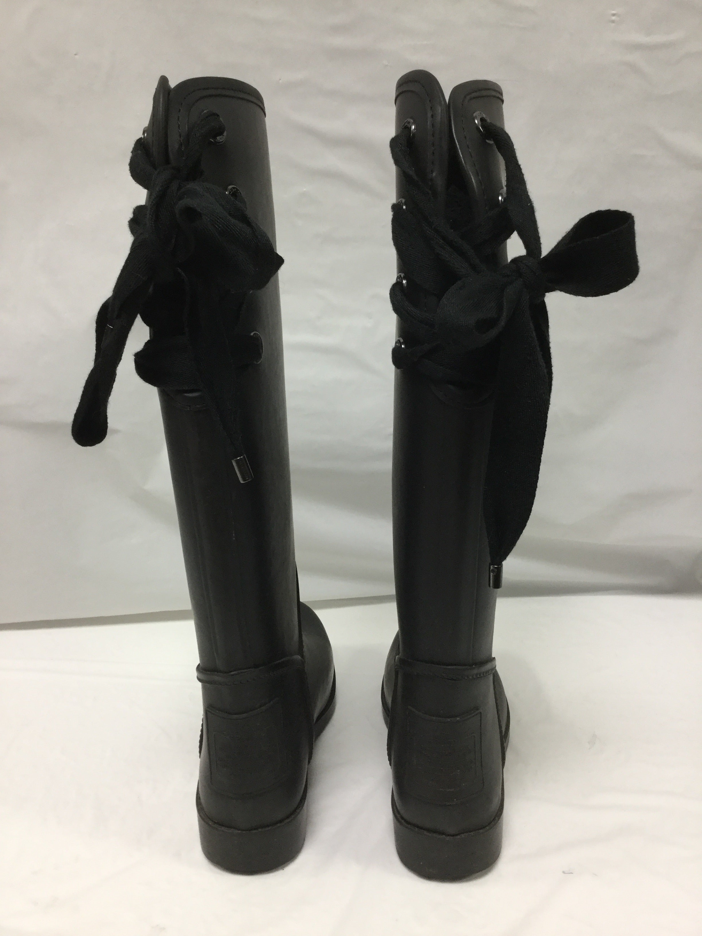 Photo #2 - BRAND: COACH <BR>STYLE: BOOTS RAIN <BR>COLOR: BLACK <BR>SIZE: 6 <BR>OTHER INFO: SLIGHT WEAR NOTED <BR>SKU: 155-155130-204966