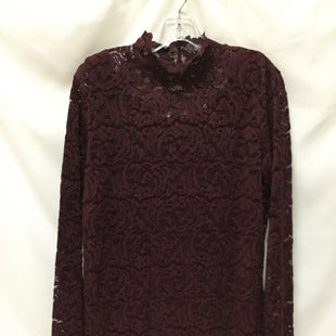 Primary Photo - BRAND: ISAAC MIZRAHI LIVE QVC STYLE: TOP LONG SLEEVE COLOR: BURGUNDY SIZE: L SKU: 155-155224-19960