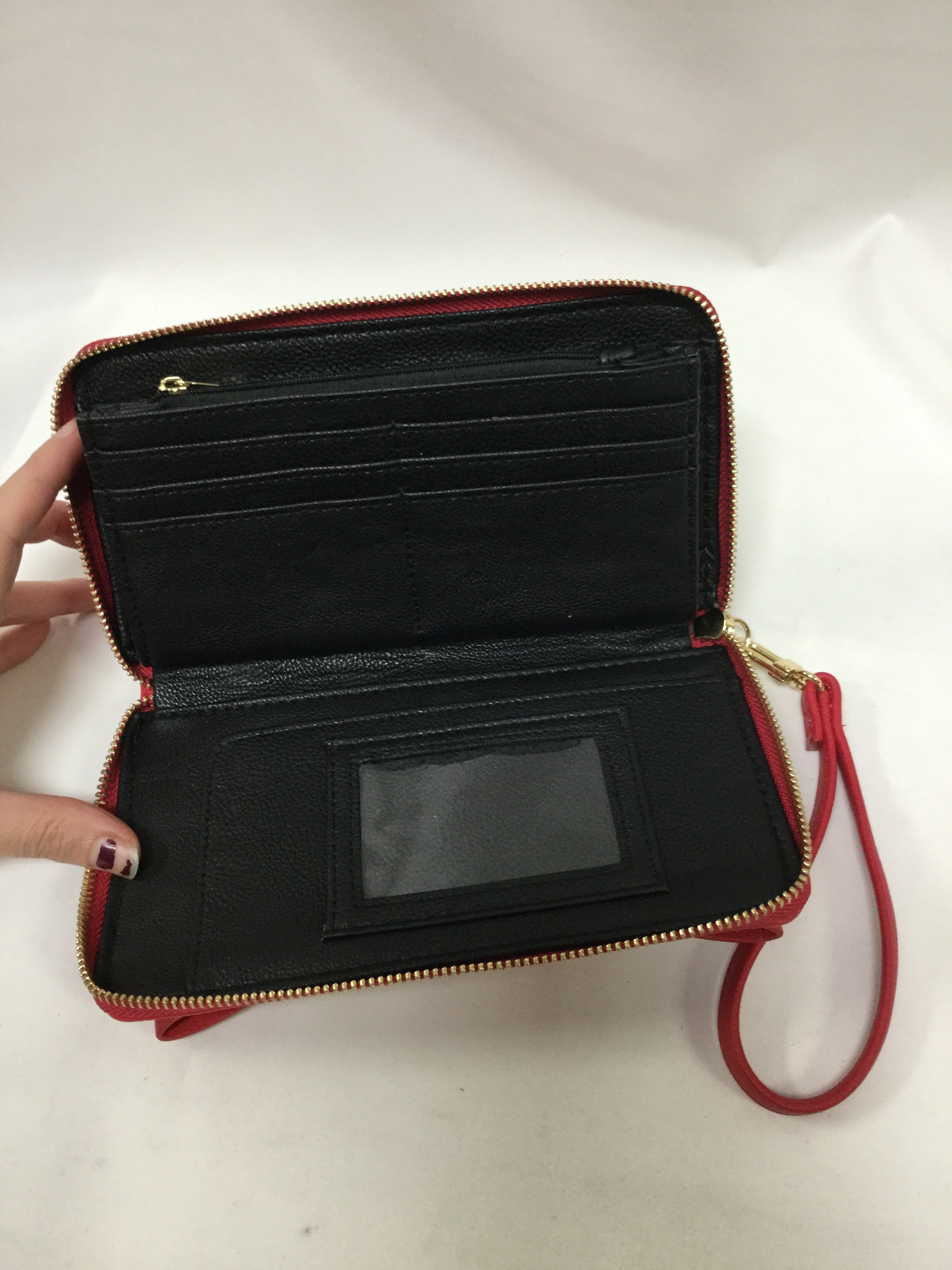 Photo #2 - BRAND: BETSEY JOHNSON <BR>STYLE: WALLET <BR>COLOR: RED <BR>SIZE: LARGE <BR>SKU: 155-15599-235818