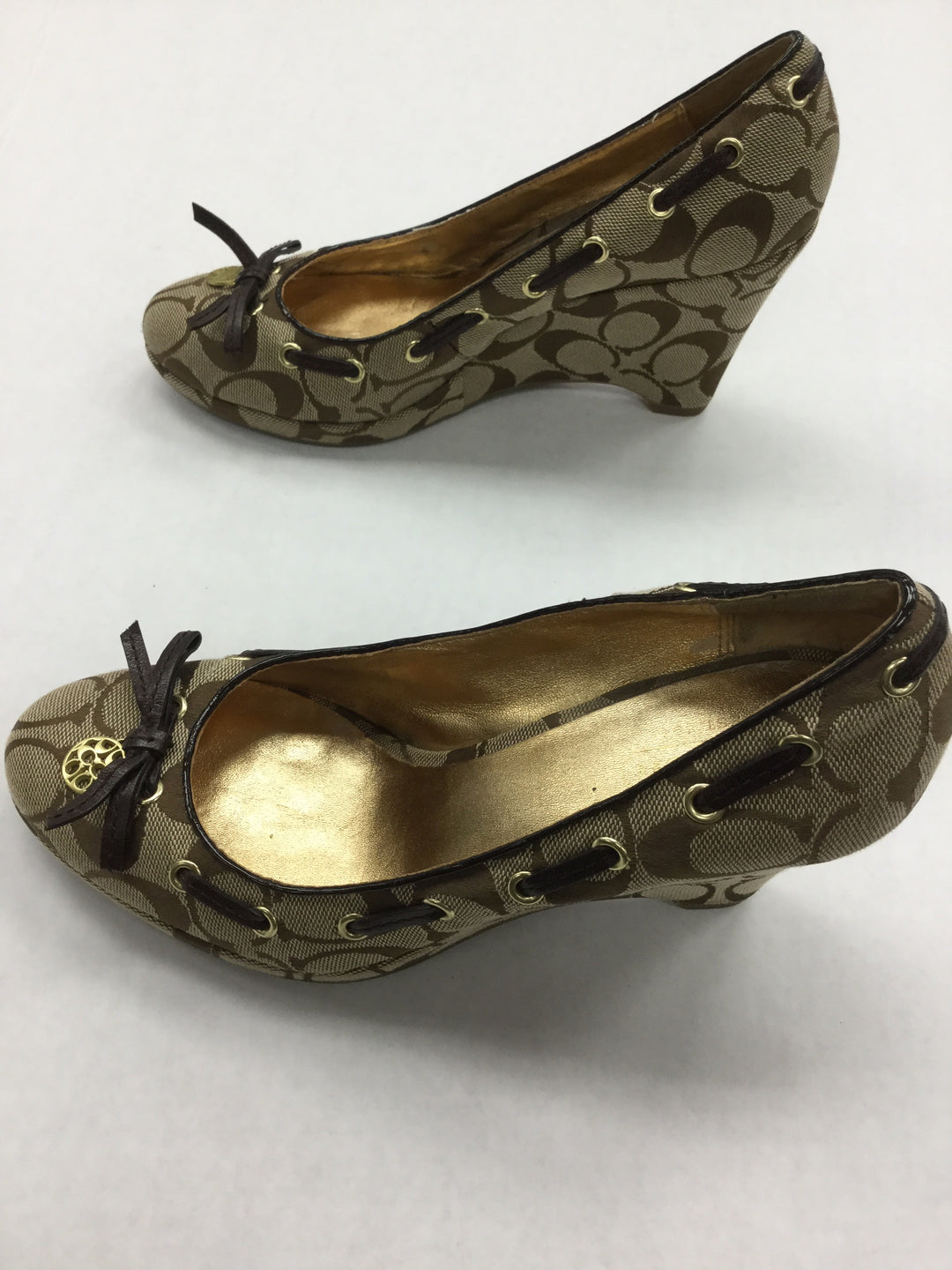 Photo #3 - BRAND: COACH <BR>STYLE: SHOES HIGH HEEL <BR>COLOR: BROWN <BR>SIZE: 7.5 <BR>OTHER INFO: NOTED: INSIDE HAS SOME WEAR <BR>SKU: 155-155224-13355