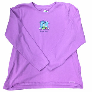 Primary Photo - BRAND: LIFE IS GOOD STYLE: TOP LONG SLEEVE COLOR: PURPLE SIZE: 1X SKU: 155-155201-19564