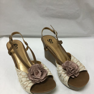 Primary Photo - BRAND: SO STYLE: SANDALS HIGH COLOR: CREAM AND BEIGESIZE: 9 SKU: 155-15545-200354