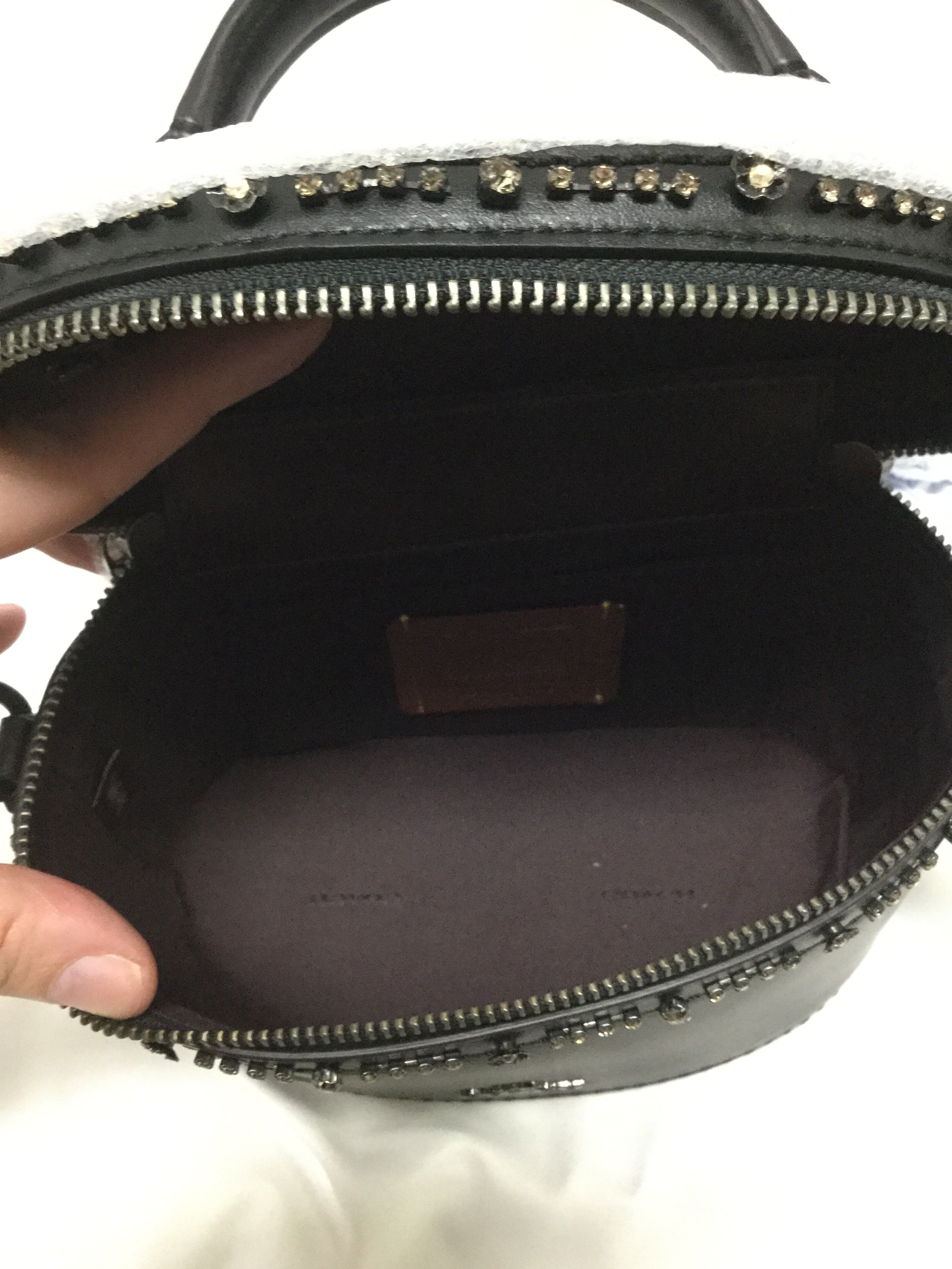 Photo #3 - BRAND: COACH <BR>STYLE: HANDBAG DESIGNER <BR>COLOR: BLACK <BR>SIZE: SMALL <BR>SKU: 155-155224-16352