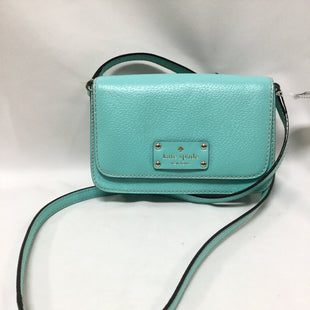 Primary Photo - BRAND: KATE SPADE STYLE: HANDBAG DESIGNER COLOR: TURQUOISE SIZE: SMALL SKU: 155-155224-19038