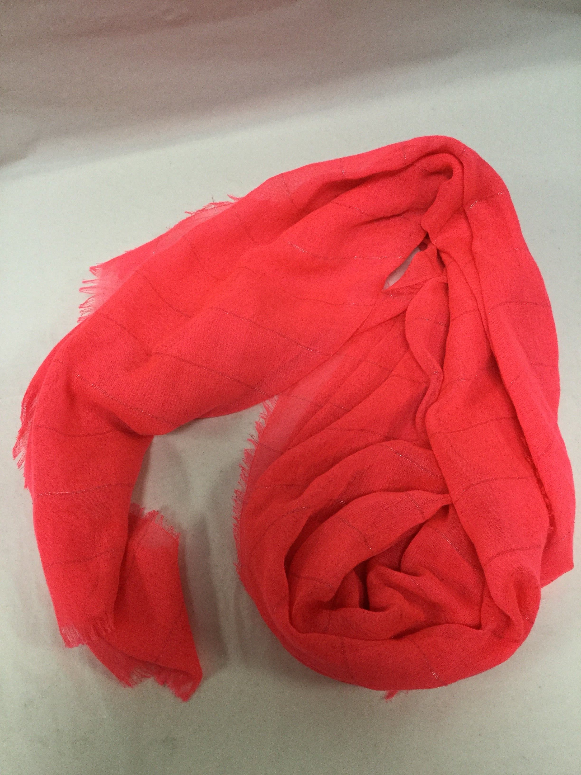 Primary Photo - BRAND:    CLOTHES MENTOR <BR>STYLE: SCARF <BR>COLOR: HOT PINK <BR>SKU: 155-155224-8628