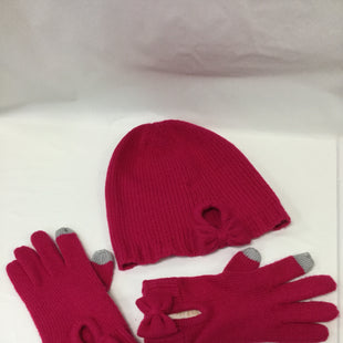 Primary Photo - BRAND: KATE SPADE STYLE: HAT COLOR: HOT PINK OTHER INFO: WITH GLOVES SKU: 155-15545-200349BOW TRIM FEATURE ON HAT AND GLOVESGREY TIP TRIM ON GLOVESEXCELLENT CONDITION