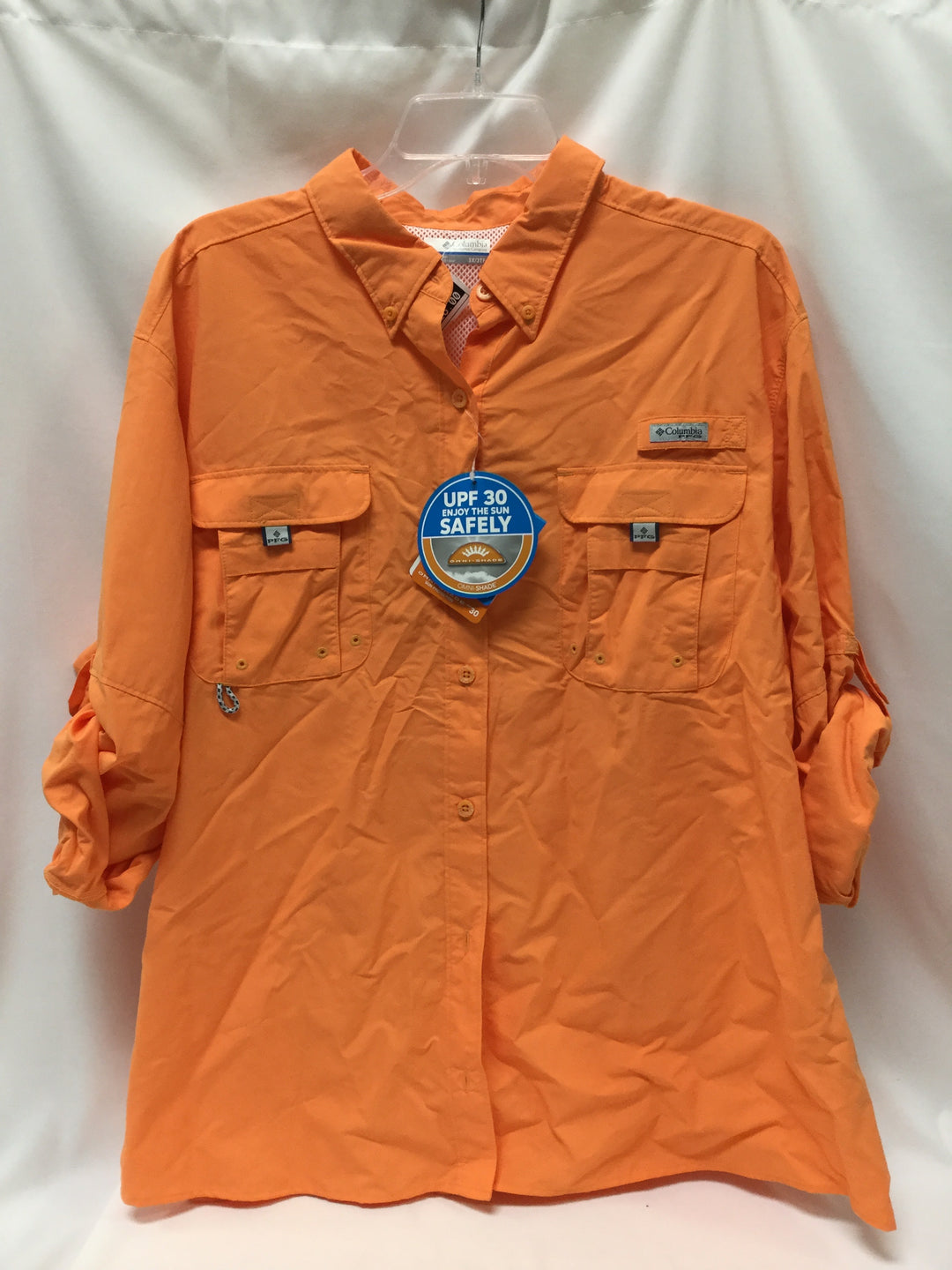 Primary Photo - BRAND: COLUMBIA <BR>STYLE: ATHLETIC TOP <BR>COLOR: ORANGE <BR>SIZE: 3X <BR>SKU: 155-155215-3439