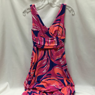 Primary Photo - BRAND: LILLY PULITZER STYLE: DRESS LONG SLEEVELESS COLOR: NAVY MAGENTA CORAL WHITESIZE: XS SKU: 155-155220-3137