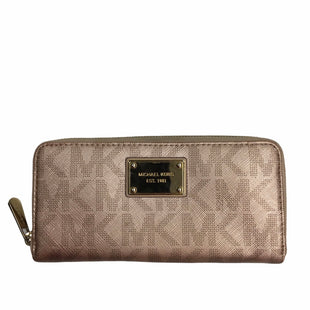 Primary Photo - BRAND: MICHAEL BY MICHAEL KORS STYLE: WALLET COLOR: BRONZE SIZE: LARGE SKU: 155-155220-11805