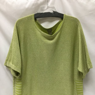 Primary Photo - BRAND: CHICOS STYLE: TOP SHORT SLEEVE COLOR: LIME GREEN SIZE: L SKU: 155-155224-19907
