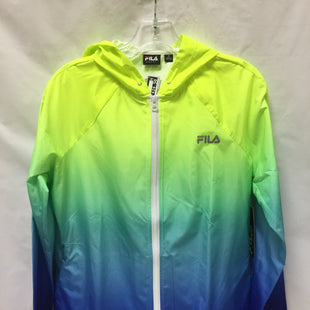 Primary Photo - BRAND: FILA STYLE: ATHLETIC JACKET COLOR: BLUE GREEN YELLOW SIZE: S SKU: 155-15599-233204