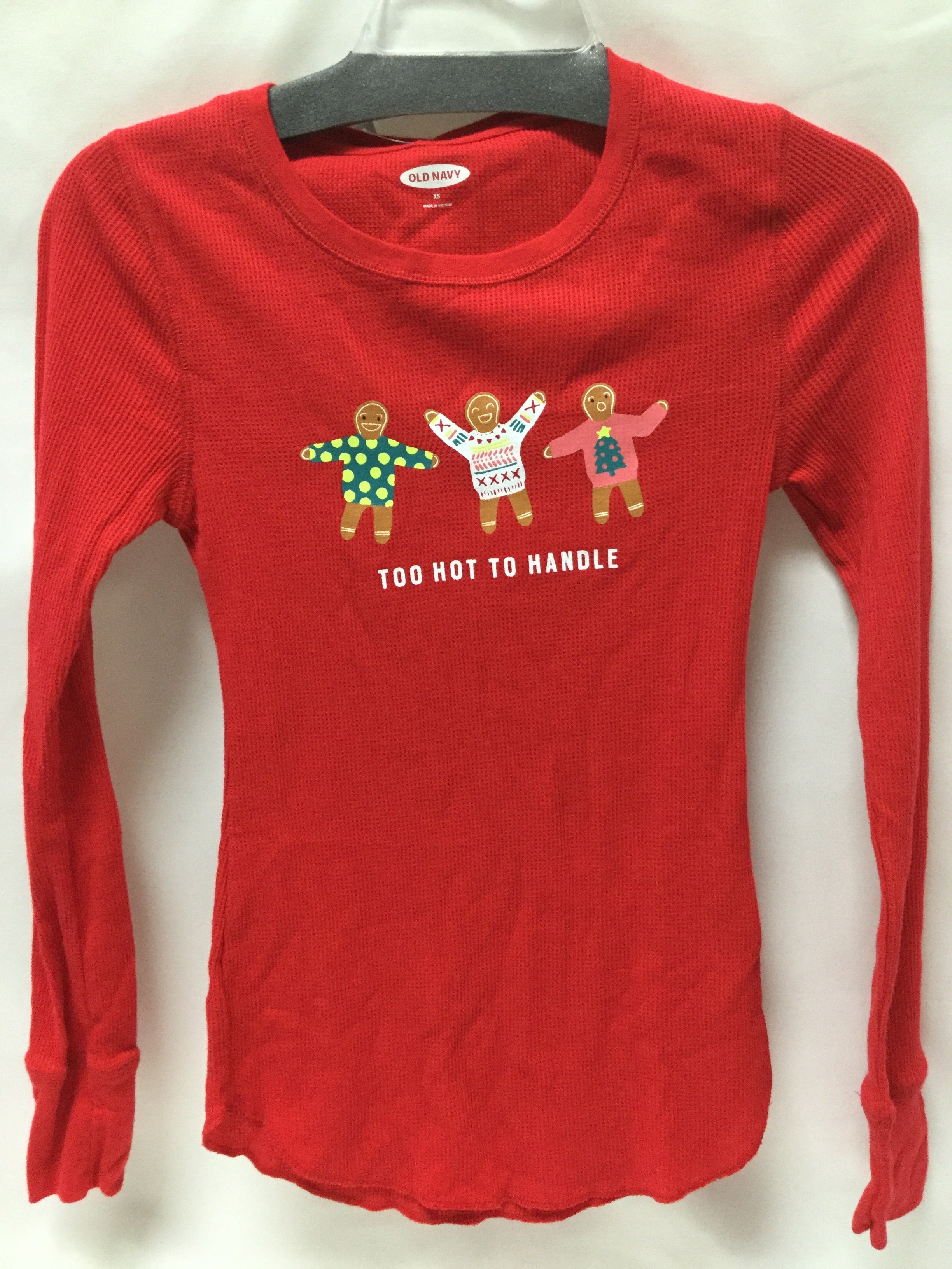 Primary Photo - BRAND: OLD NAVY <BR>STYLE: TOP LONG SLEEVE <BR>COLOR: CHRISTMAS <BR>SIZE: XS <BR>SKU: 155-15599-223948