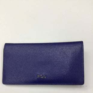 Primary Photo - BRAND: RALPH LAUREN STYLE: WALLET COLOR: ROYAL BLUE SIZE: LARGE SKU: 155-15545-193069LEATHER