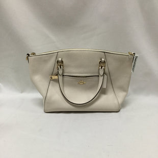 Primary Photo - BRAND: COACH STYLE: HANDBAG DESIGNER COLOR: CREAM SIZE: MEDIUM OTHER INFO: SOME MARKS ON BOTTOM SKU: 155-155224-18991