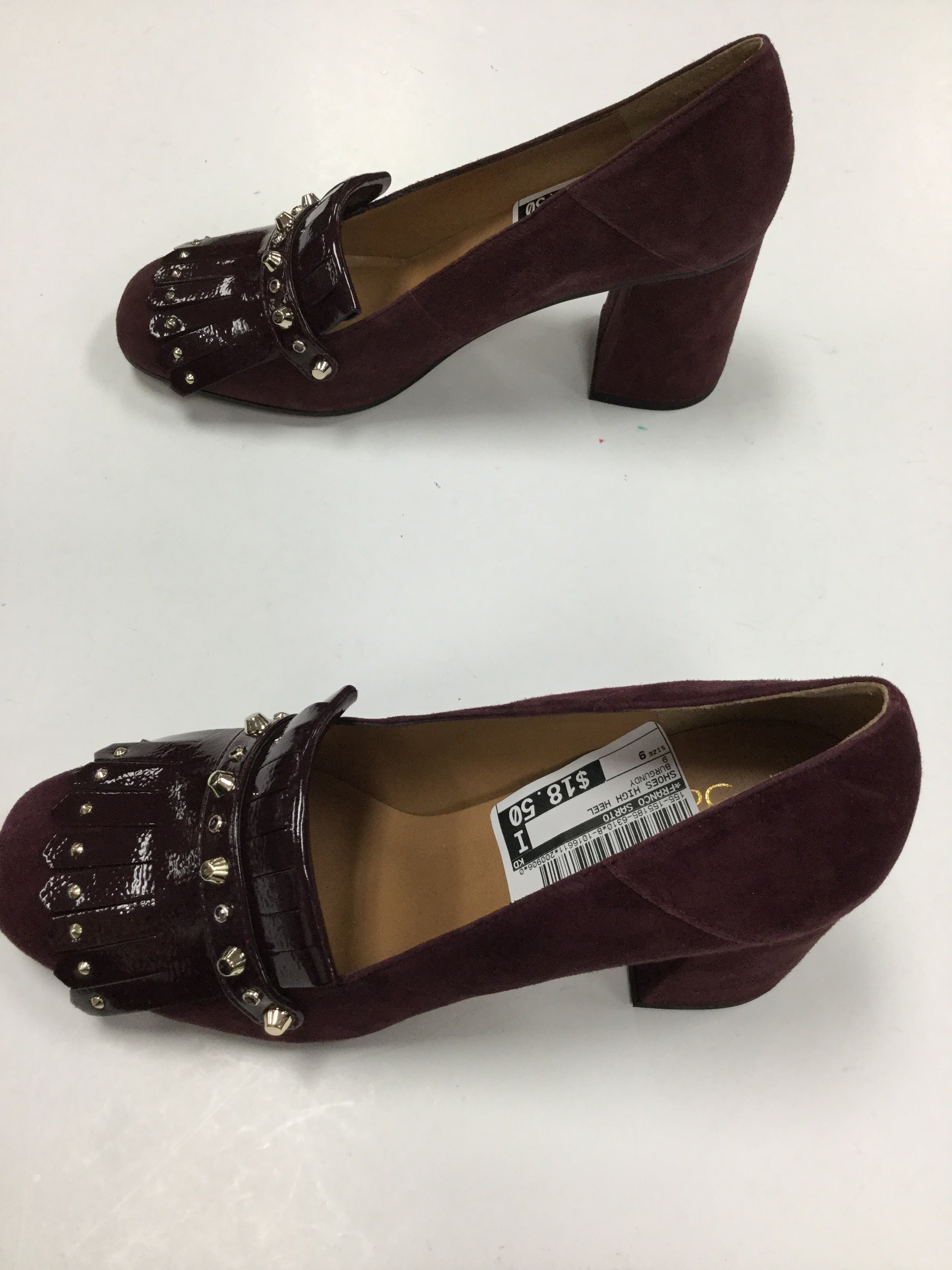 Photo #3 - BRAND: FRANCO SARTO <BR>STYLE: SHOES HIGH HEEL <BR>COLOR: BURGUNDY <BR>SIZE: 9 <BR>SKU: 155-155185-6310