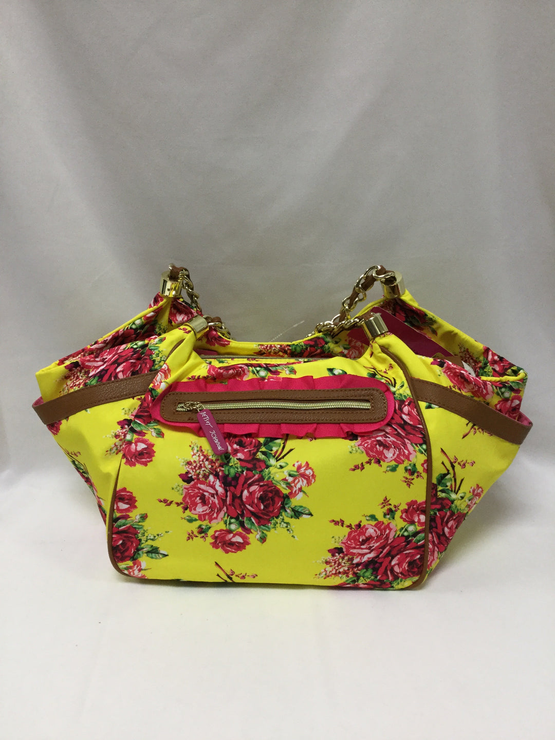 Primary Photo - BRAND: BETSEY JOHNSON <BR>STYLE: HANDBAG <BR>COLOR: YELLOW <BR>SIZE: LARGE <BR>SKU: 155-15599-234481
