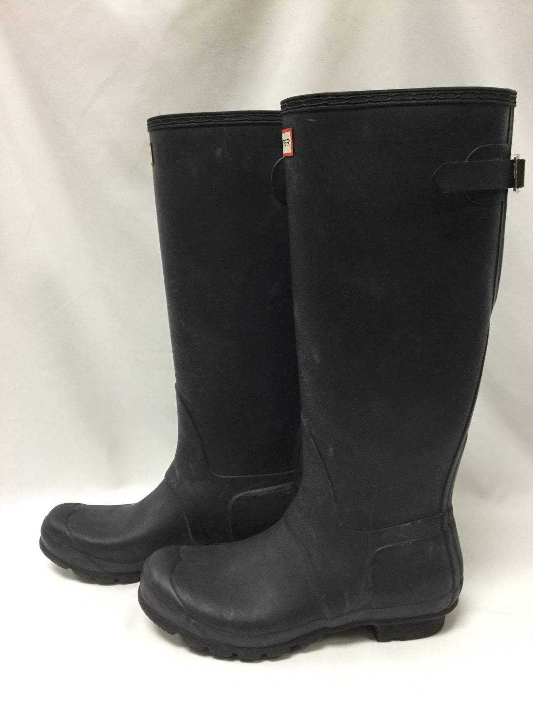 Photo #2 - BRAND: HUNTER <BR>STYLE: BOOTS ANKLE <BR>COLOR: BLACK <BR>SIZE: 10 <BR>OTHER INFO: NOTED WEAR <BR>SKU: 155-15599-236144