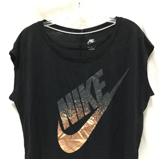 Primary Photo - BRAND: NIKE APPAREL STYLE: ATHLETIC TANK TOP COLOR: BLACK SIZE: M SKU: 155-15599-234378