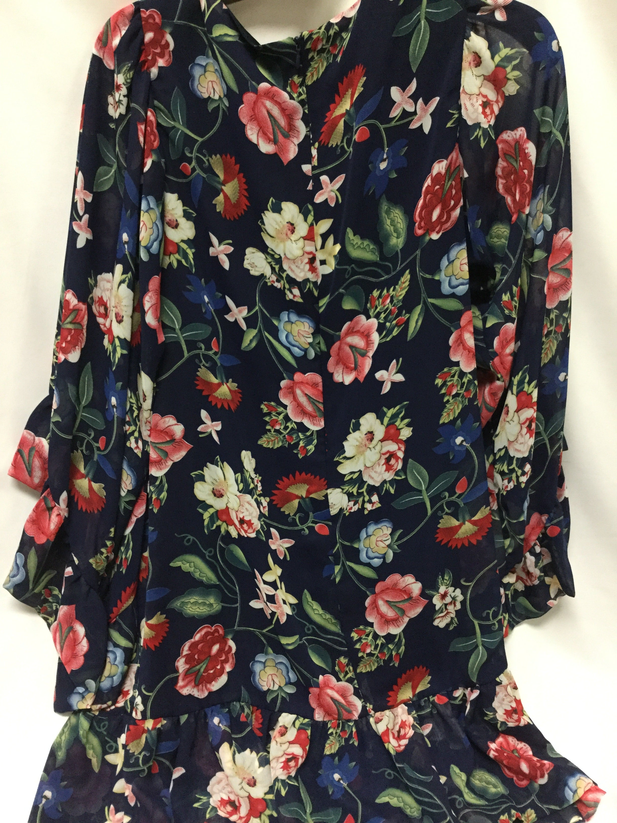 Photo #1 - BRAND: BETSEY JOHNSON <BR>STYLE: DRESS SHORT LONG SLEEVE <BR>COLOR: BLUE <BR>SIZE: M <BR>SKU: 155-155201-18399