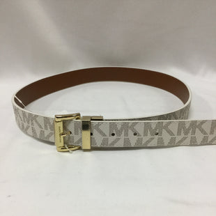 Primary Photo - BRAND: MICHAEL BY MICHAEL KORS STYLE: BELT COLOR: CREAM SIZE: M SKU: 155-155220-3775