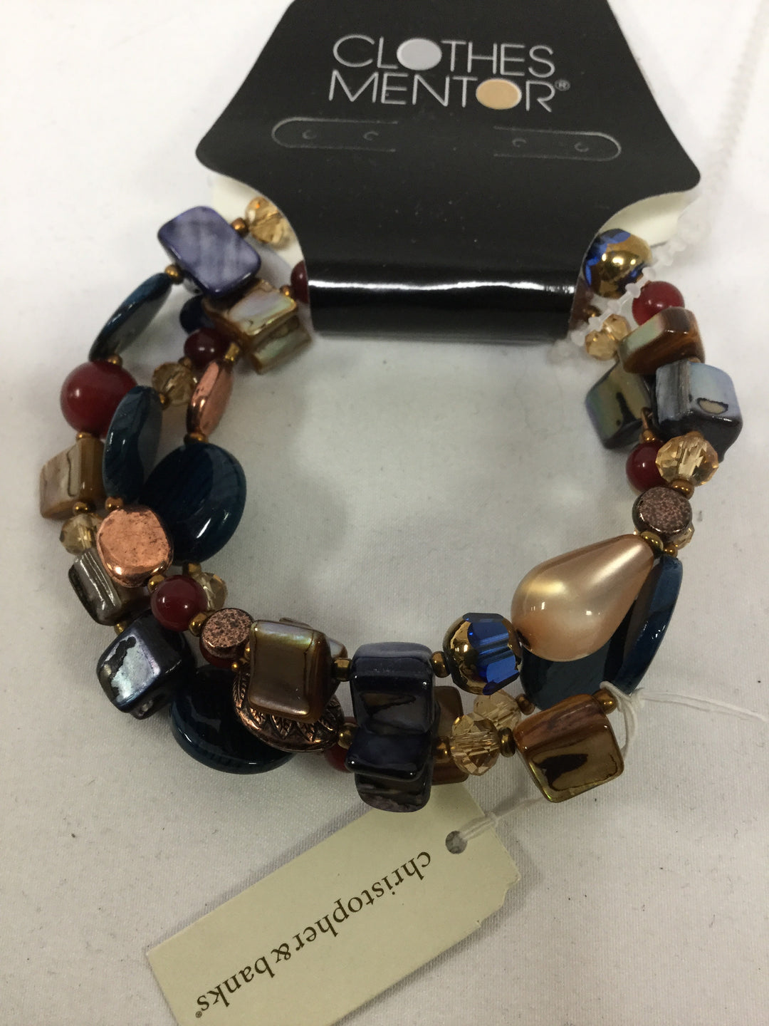 Primary Photo - BRAND:    CLOTHES MENTOR <BR>STYLE: BRACELET <BR>COLOR: BLUE RUST GOLD BRONZE<BR>SKU: 155-15545-207382