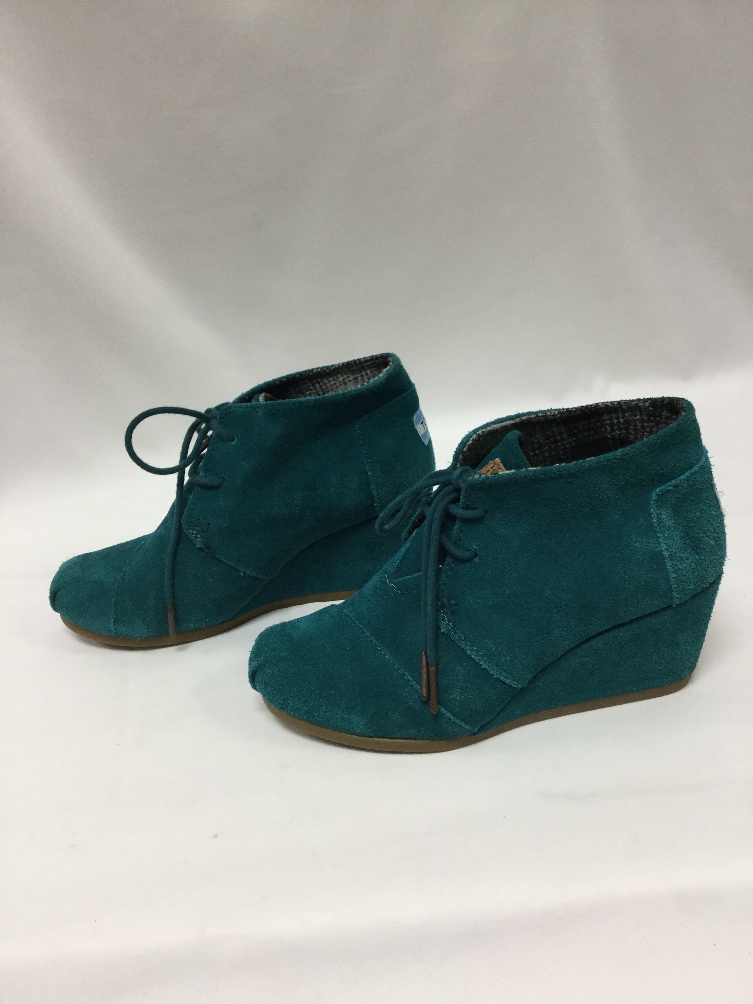 Photo #3 - BRAND: TOMS <BR>STYLE: SHOES HIGH HEEL <BR>COLOR: TURQUOISE <BR>SIZE: 6 <BR>SKU: 155-155224-14052