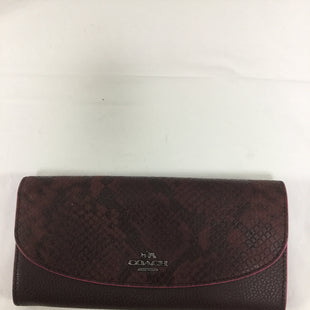 Primary Photo - BRAND: COACH STYLE: WALLET COLOR: BURGUNDY SIZE: LARGE SKU: 155-155224-6246