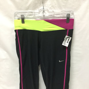 Primary Photo - BRAND: NIKE APPAREL STYLE: ATHLETIC CAPRIS COLOR: BLACK MAGENTA NEON YELLOW SIZE: S OTHER INFO: NOTED SKU: 155-155130-207794
