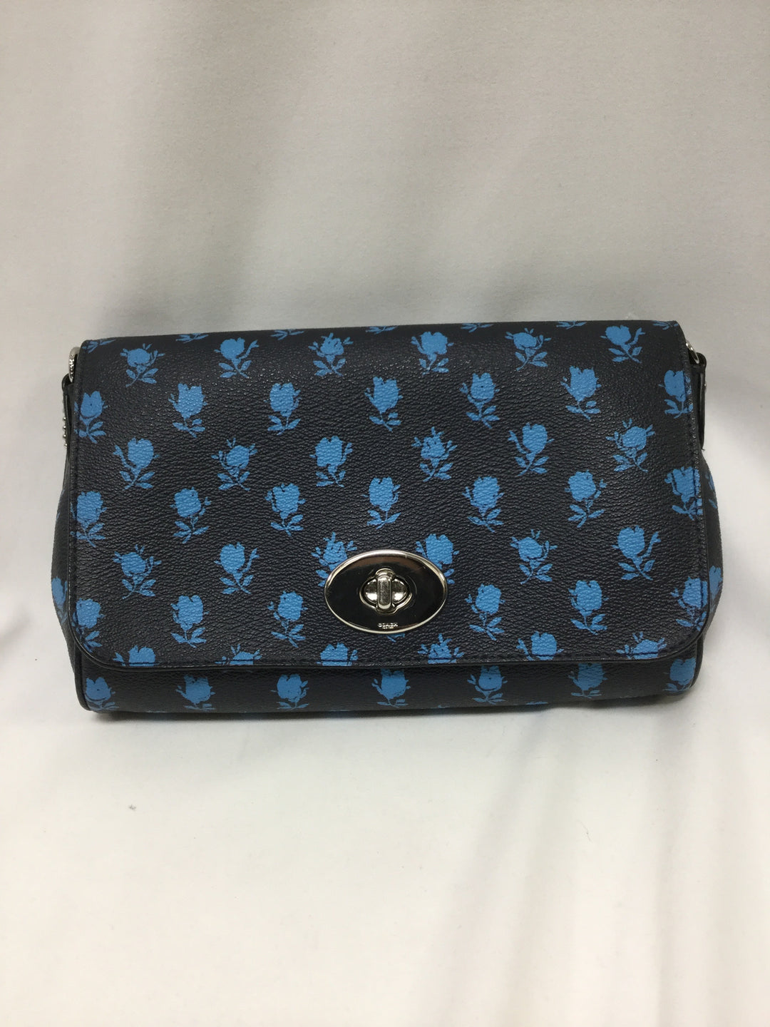 Primary Photo - BRAND: COACH <BR>STYLE: HANDBAG DESIGNER <BR>COLOR: NAVY <BR>SIZE: SMALL <BR>SKU: 155-155220-7143
