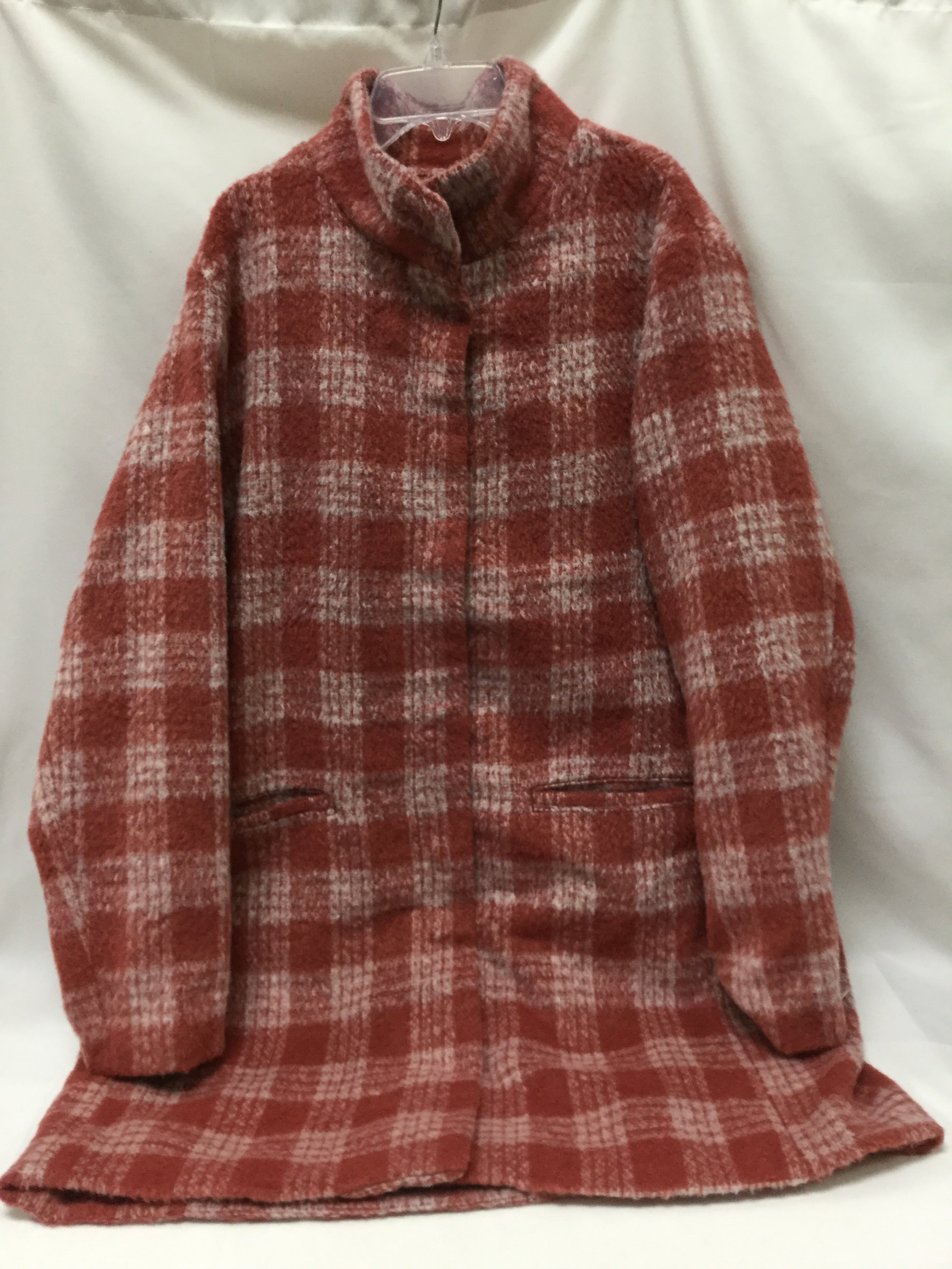 Primary Photo - BRAND: OLD NAVY <BR>STYLE: COAT SHORT <BR>COLOR: RUST WHITE<BR>SIZE: XL <BR>SKU: 155-155185-6324
