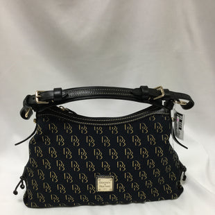 Primary Photo - BRAND: DOONEY AND BOURKE STYLE: HANDBAG DESIGNER COLOR: BLACK SIZE: MEDIUM OTHER INFO: LINING SLIGHTLY STAINED SKU: 155-155130-211382