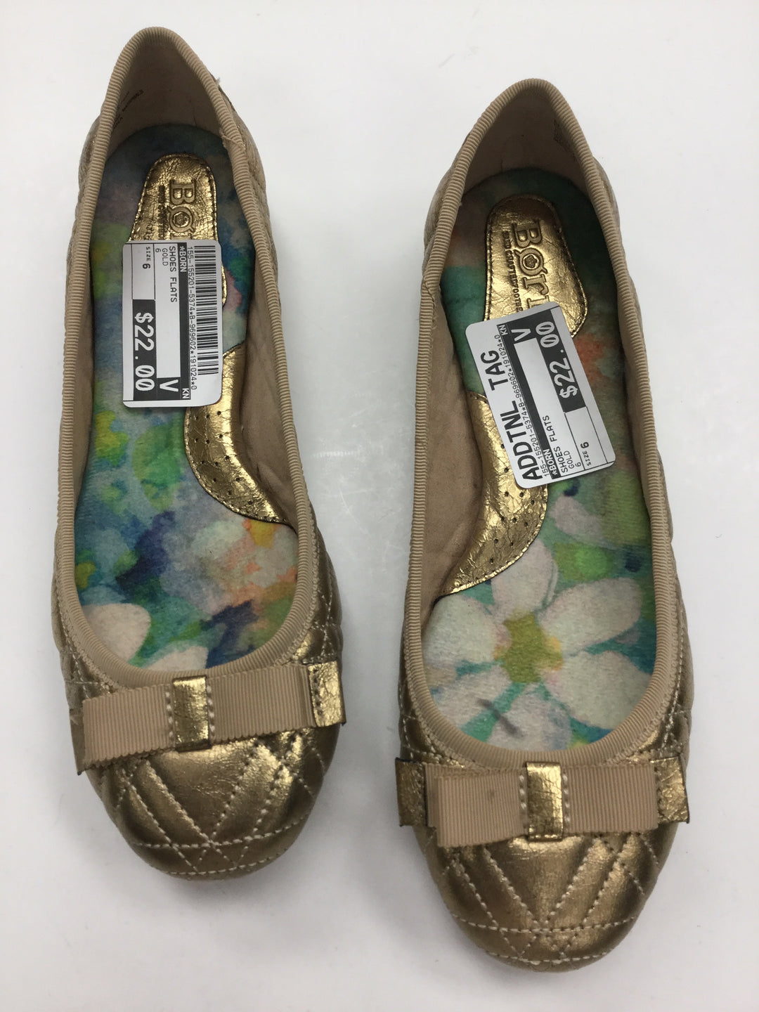 Primary Photo - BRAND: BORN <BR>STYLE: SHOES FLATS <BR>COLOR: GOLD <BR>SIZE: 6 <BR>SKU: 155-155201-5374